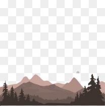 原始森林山峰创意设计