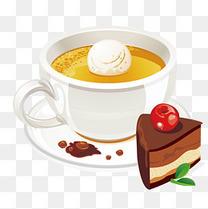卡通可爱下午茶甜品蛋糕