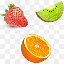 矢量手绘水果