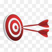 射中的红色箭靶矢量素材