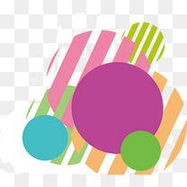 孟菲斯风格彩色几何装饰图形