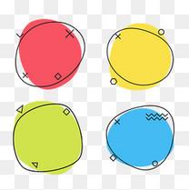 四款几何形促销标签矢量背景