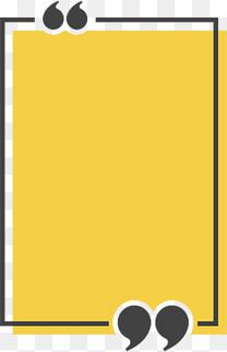 黄色矩形标题框