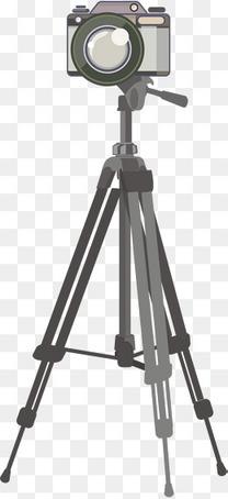 用三脚架固定的数码相机