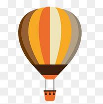 热气球简约扁平化卡通