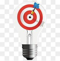 灯泡箭靶精准团队文化创意图