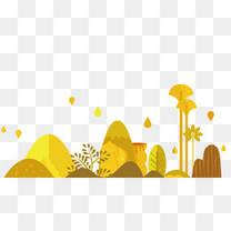 手绘立秋背景装饰图