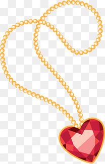 心形钻石项链