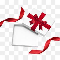 实物白色礼物盒