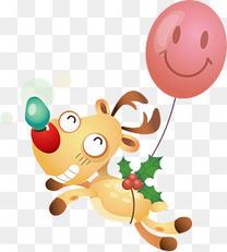 圣诞麋鹿和气球