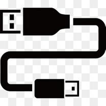 黑色USB