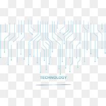 绿色科技感线条