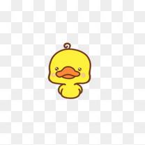 手绘可爱小黄鸭