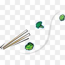 卡通美食火锅涮菜菜花