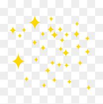 黄色菱形星星