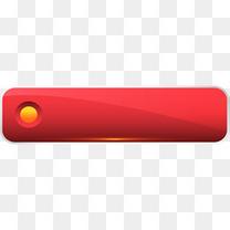 手绘红色条幅渐变标题框按钮