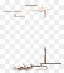 祥云中式文字框