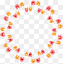 手绘多彩彩灯圆圈