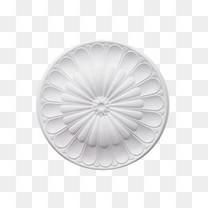 产品实物特色圆形石膏线条
