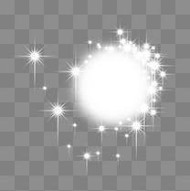 白色透明发光效果