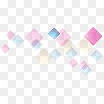 漂浮多彩色块