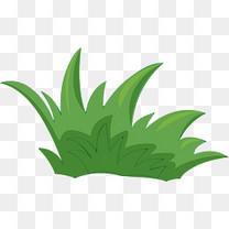 绿色卡通草丛