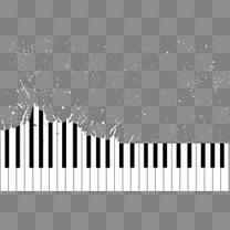 手绘黑白琴键
