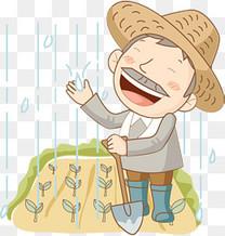 高兴的农民