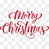 红色英文圣诞快乐