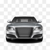 银色豪车正面图