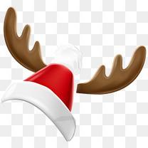 冬日卡通麋鹿圣诞帽