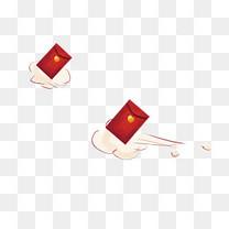 新春红包卡通手绘png免抠图