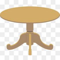 卡通手绘一条腿的圆桌