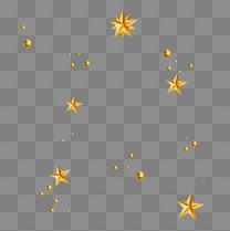 金色星星圣诞节新年元旦装饰