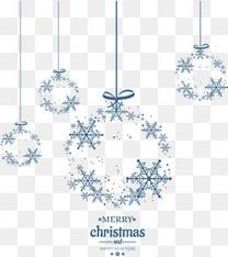 蓝色雪花圣诞球挂饰