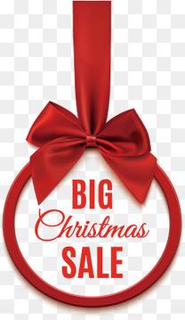 精美红丝带圣诞促销标签