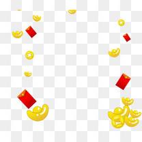 漂浮的金币免抠图