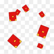 卡通散落的红包免抠图