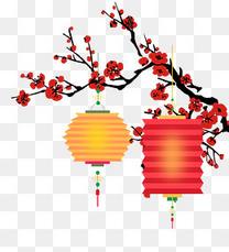 春节喜庆灯笼psd分层图