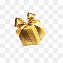 新年金色礼盒装饰