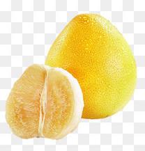 黄色厚皮柚子柚肉