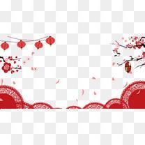 新年喜庆背景psd分层图