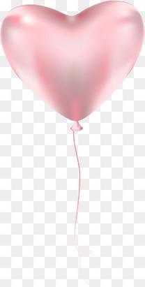 粉色情人节漂浮气球