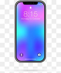 矢量手绘苹果X手机