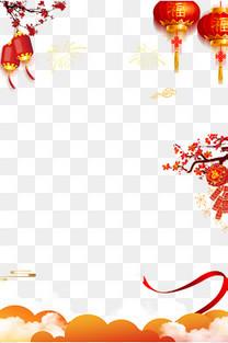 春节网页背景设计psd分层图