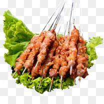 新疆风味烧烤羊肉串实物