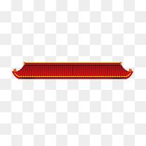 红色中国风古典屋檐