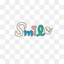 微笑可爱英语字体