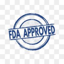 浅蓝简约企业FDA认证标志免抠图