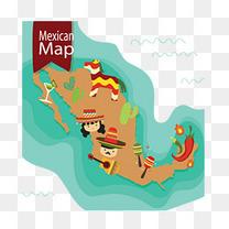 墨西哥风情旅游地图